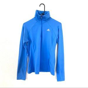 Adidas Clima365 Quarter Zip Pullover Blue Small